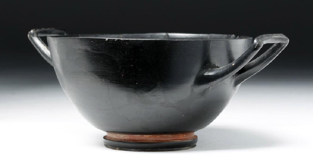 Greek Attic Blackware Kylix - Stamped Motif - 5