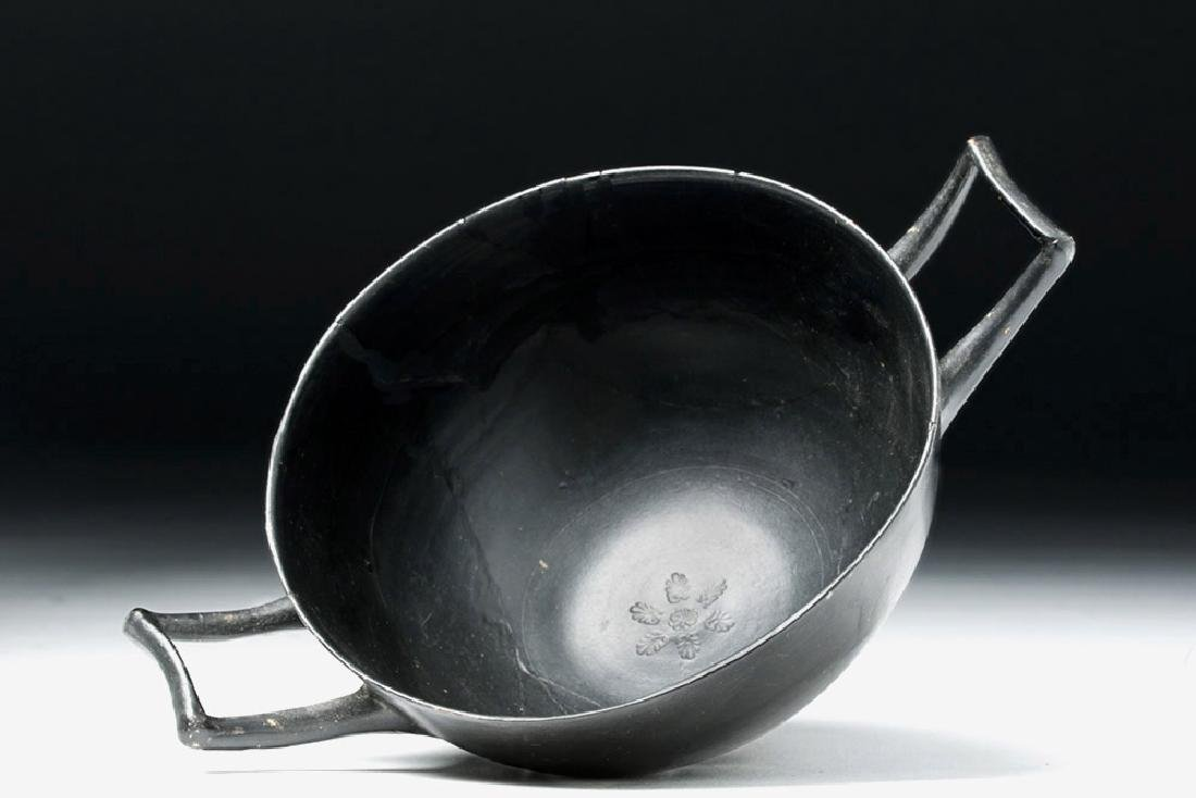 Greek Attic Blackware Kylix - Stamped Motif - 6