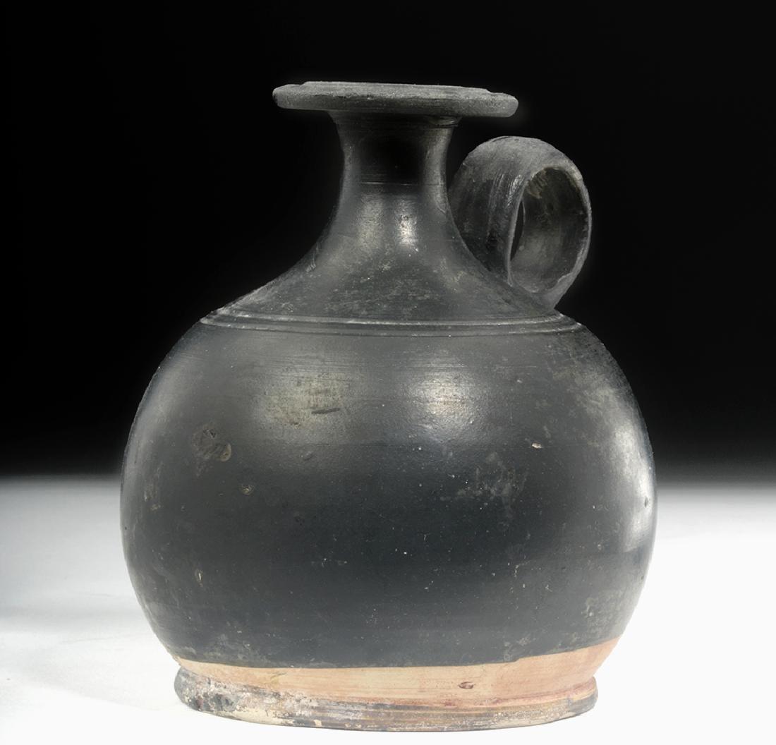 Greek South Italic Blackware Squat Lekythos