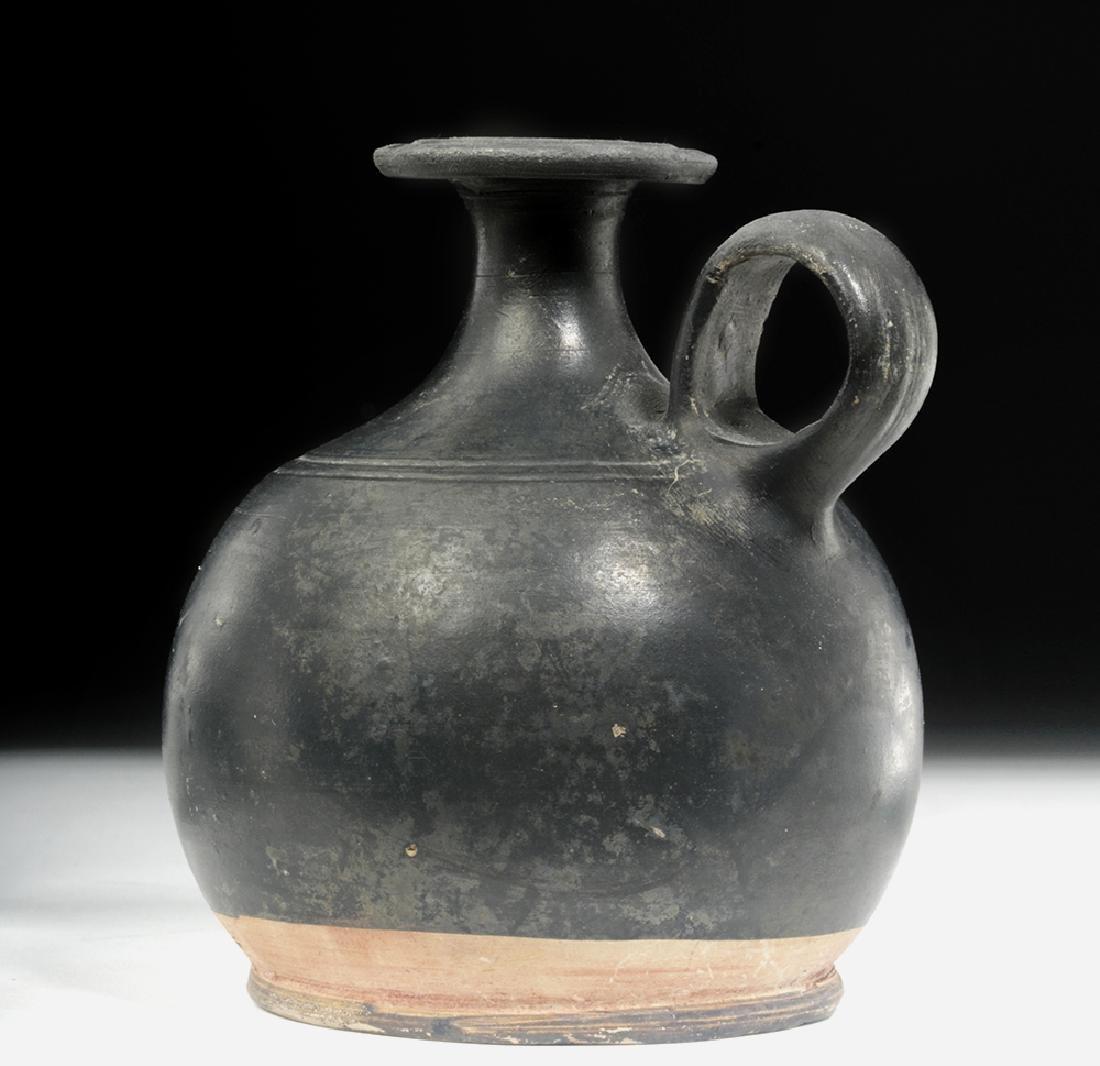 Greek South Italic Blackware Squat Lekythos - 2