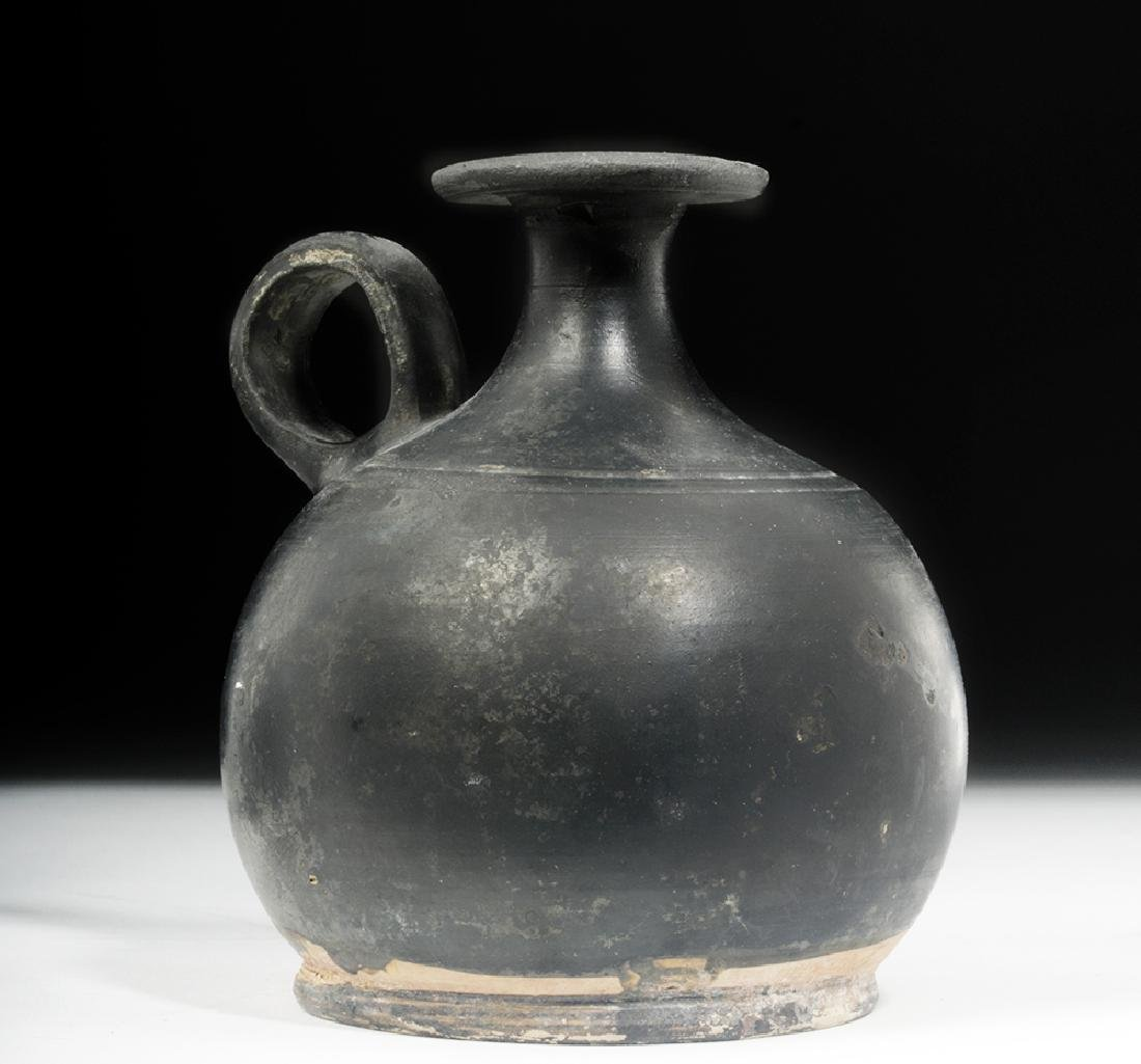 Greek South Italic Blackware Squat Lekythos - 4