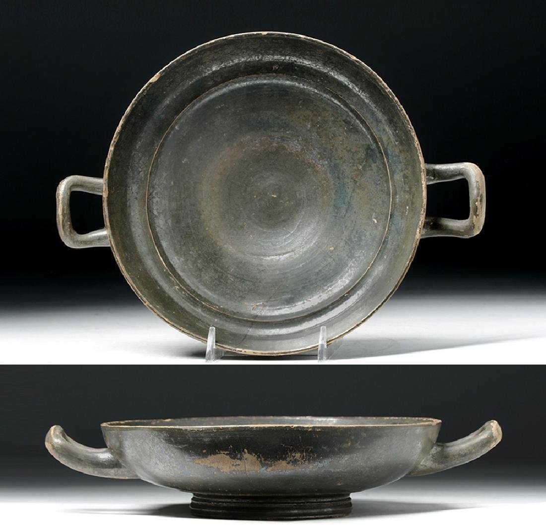 Greek Blackware Pottery Kylix