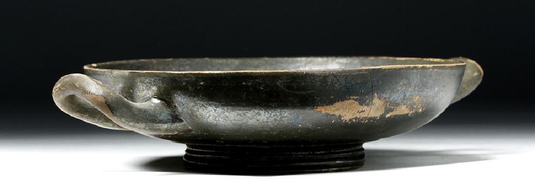Greek Blackware Pottery Kylix - 2