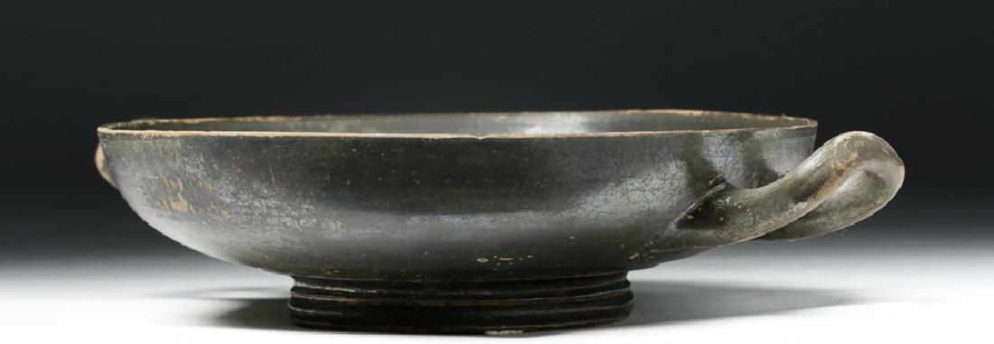 Greek Blackware Pottery Kylix - 3