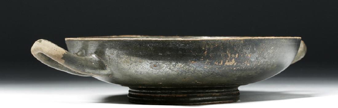 Greek Blackware Pottery Kylix - 4