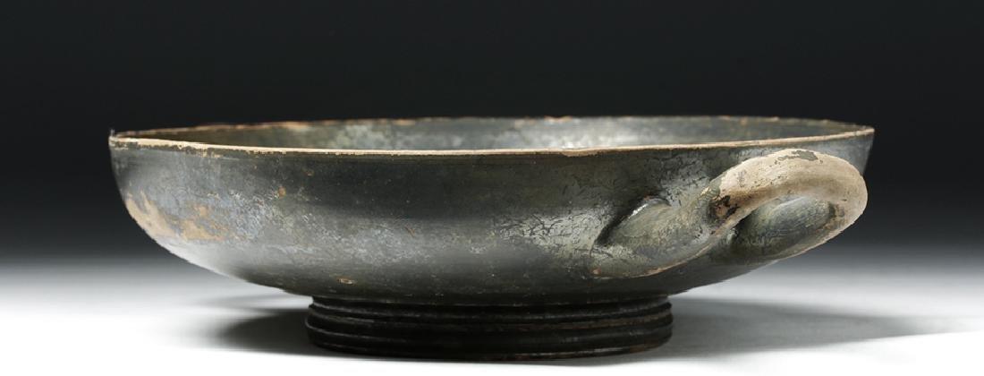 Greek Blackware Pottery Kylix - 5