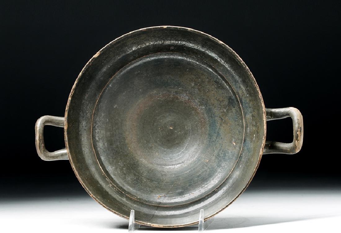 Greek Blackware Pottery Kylix - 6