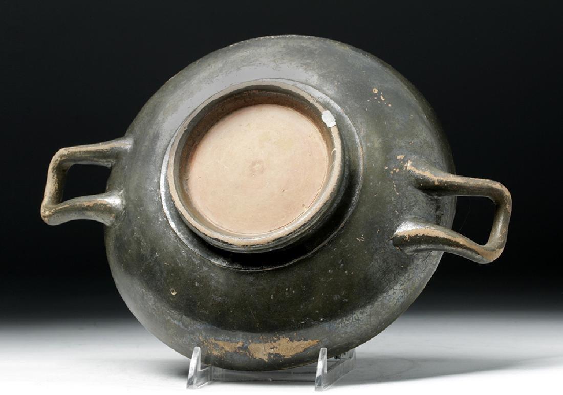Greek Blackware Pottery Kylix - 7
