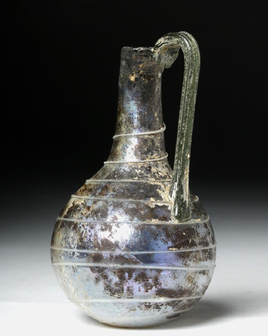 Roman Glass Pouring Pitcher w/ Trailing