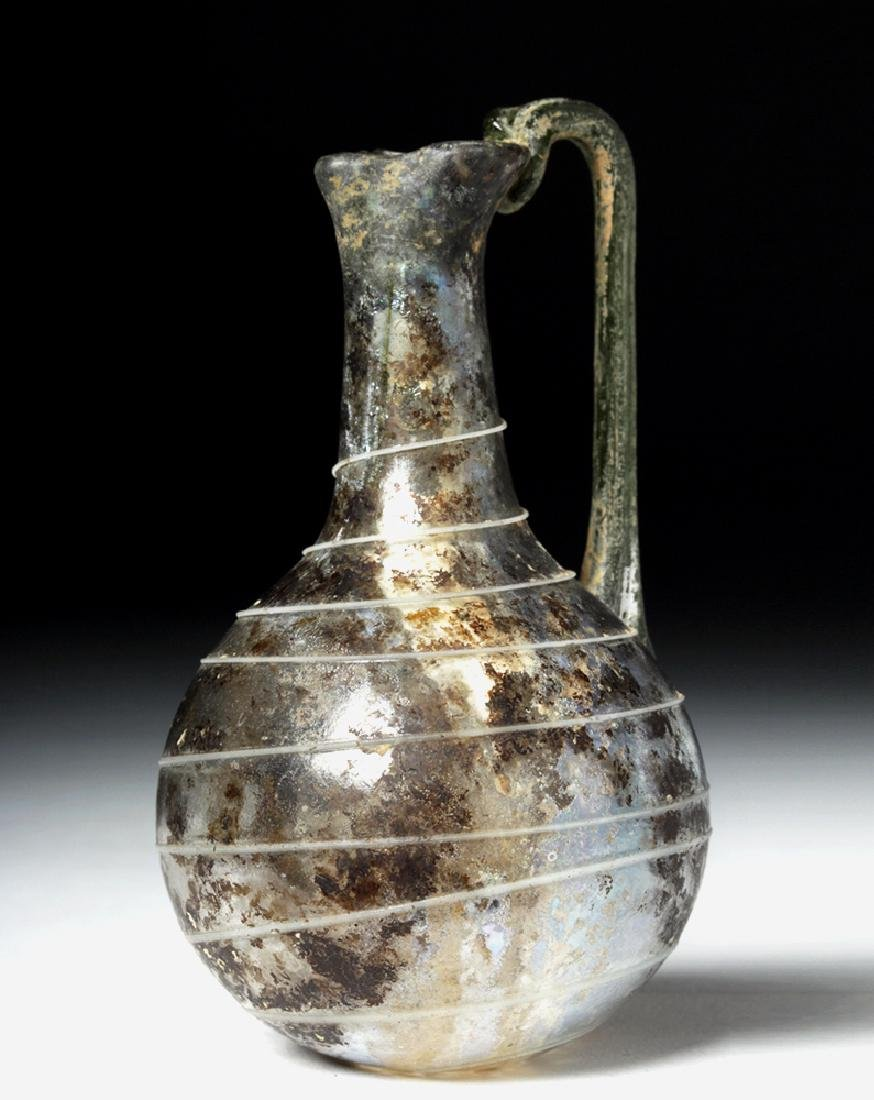 Roman Glass Pouring Pitcher w/ Trailing - 2