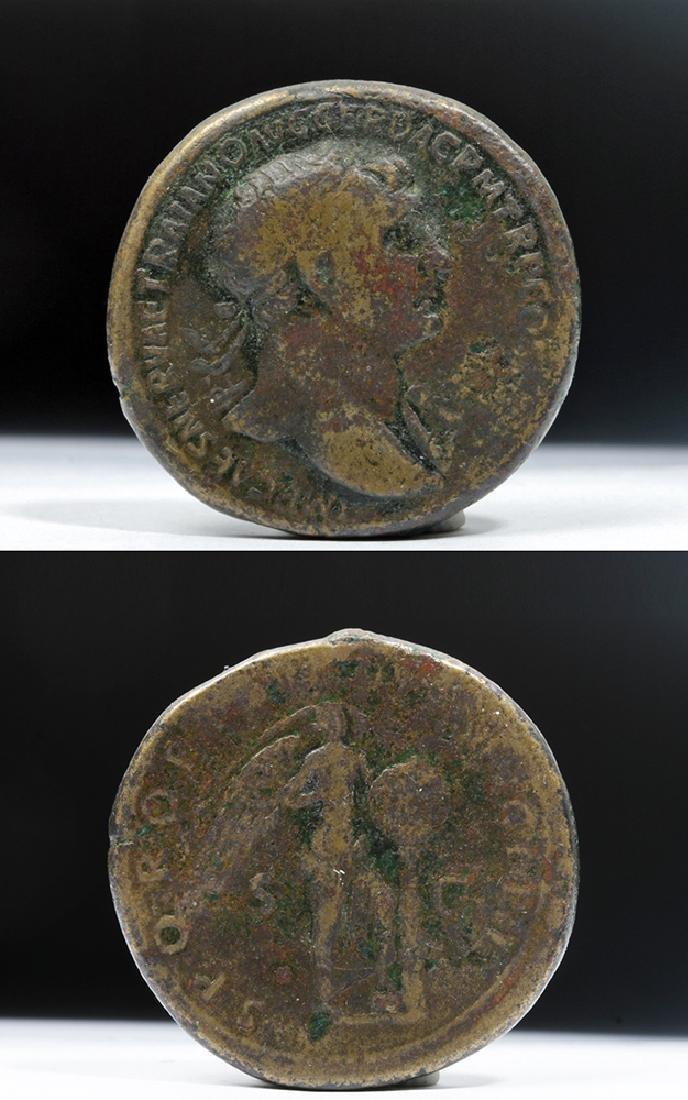 Roman Trajan 98-117 AD Bronze AE Sestertius