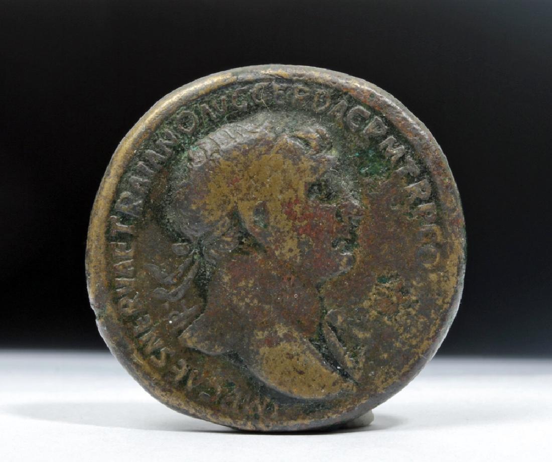 Roman Trajan 98-117 AD Bronze AE Sestertius - 2