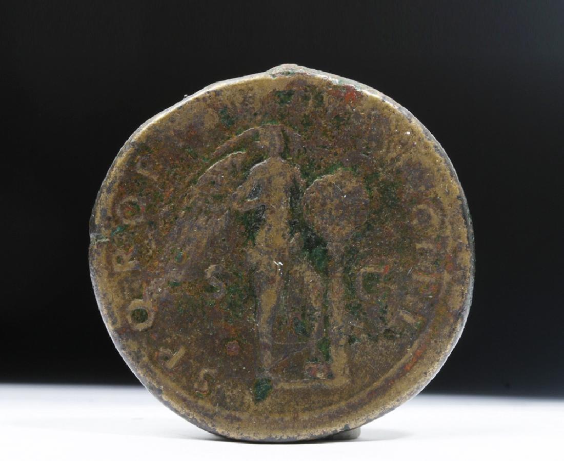 Roman Trajan 98-117 AD Bronze AE Sestertius - 3