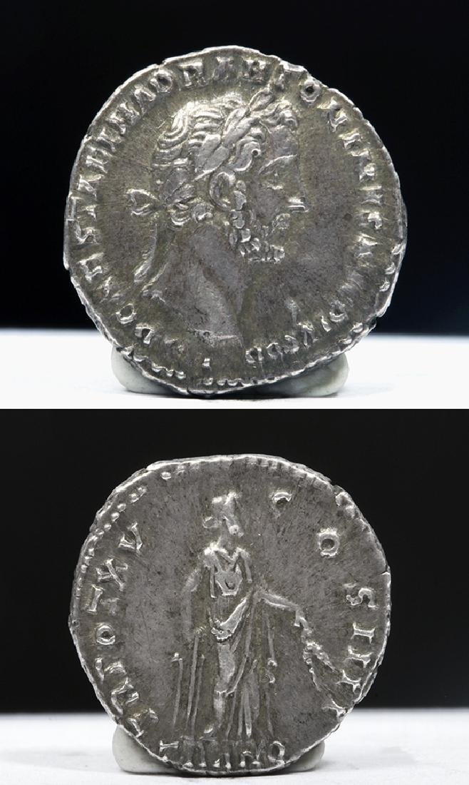 Roman Antoninus Pius 138-161 ADSilver AR Denarius