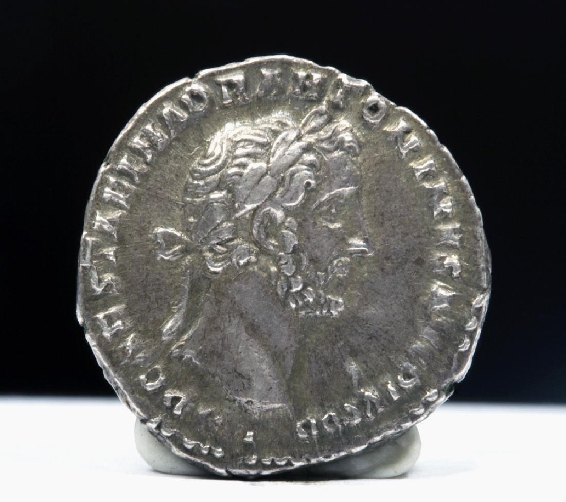 Roman Antoninus Pius 138-161 ADSilver AR Denarius - 2