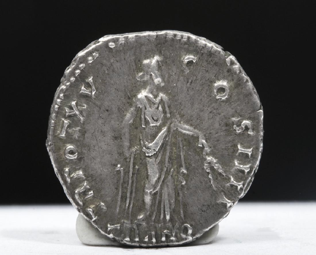 Roman Antoninus Pius 138-161 ADSilver AR Denarius - 3