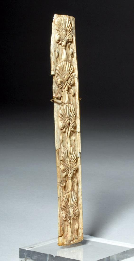 Ancient Assyrian Carved Panel - Lotus Flowers - 4