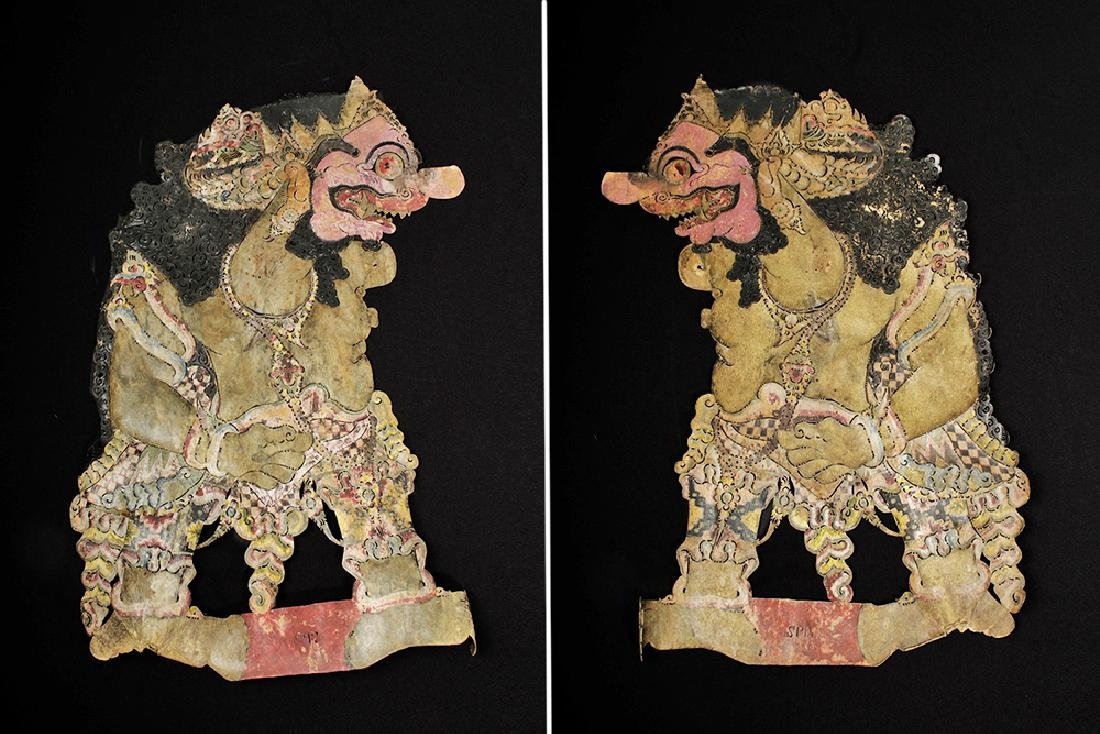 19th C. Indonesian Painted Leather Figural Puppets (11) - 4