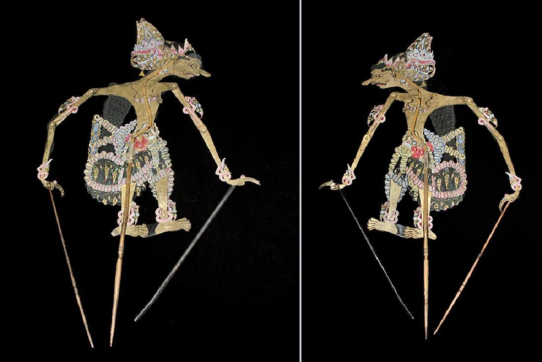 19th C. Indonesian Painted Leather Figural Puppets (11) - 6