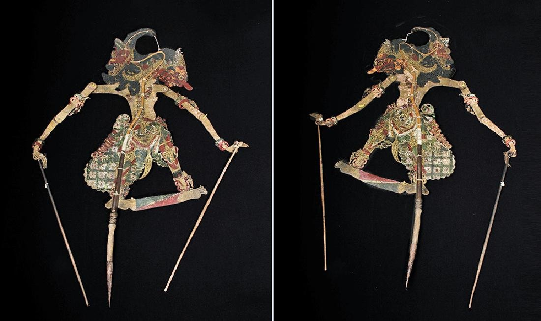 19th C. Indonesian Painted Leather Figural Puppets (11) - 7