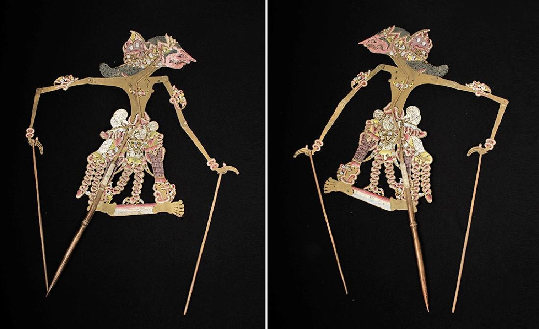 19th C. Indonesian Painted Leather Figural Puppets (11) - 9