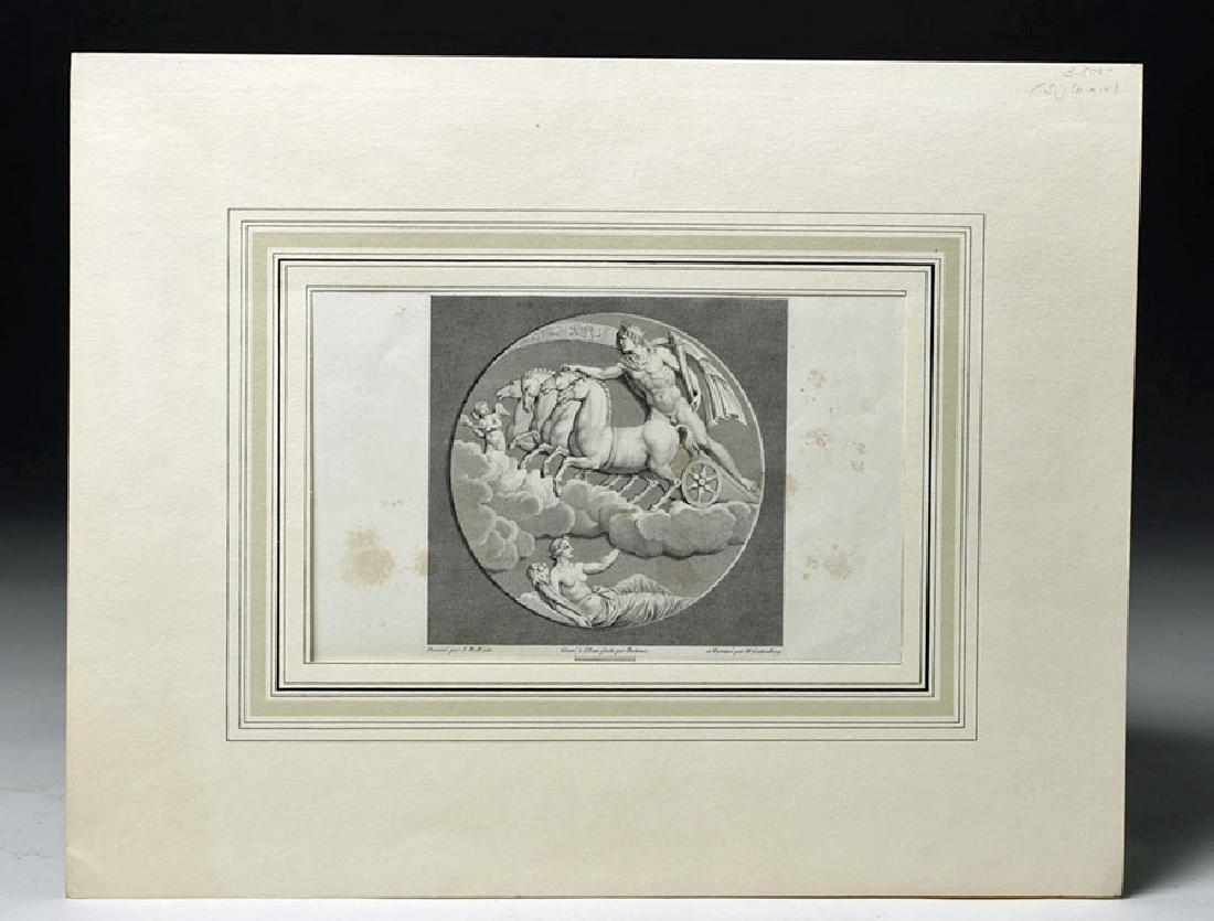 19th C. European Etching - Apollo & Diana, after  Wicar