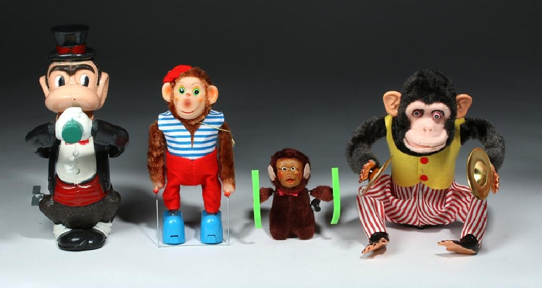 4 Vintage Monkey Toys w/ Original Boxes, ex-Hollywood - 2
