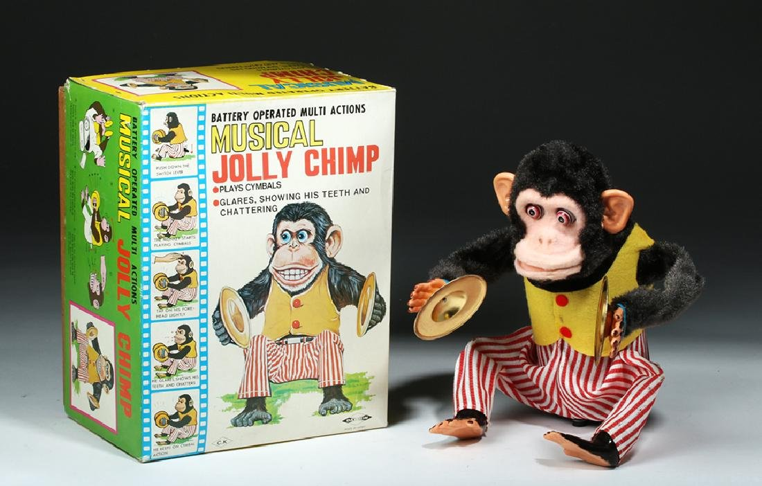 4 Vintage Monkey Toys w/ Original Boxes, ex-Hollywood - 6