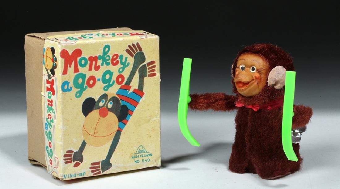 4 Vintage Monkey Toys w/ Original Boxes, ex-Hollywood - 7