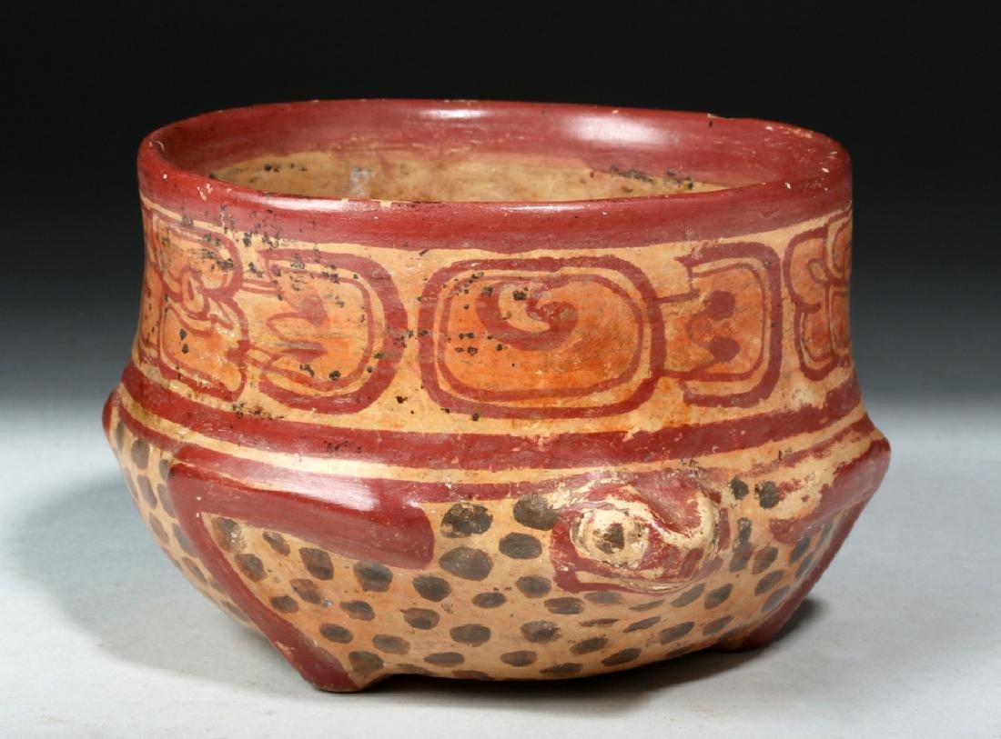 Near Choice Mayan Copador Pottery Turtle Bowl