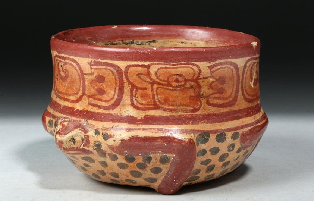 Near Choice Mayan Copador Pottery Turtle Bowl - 2