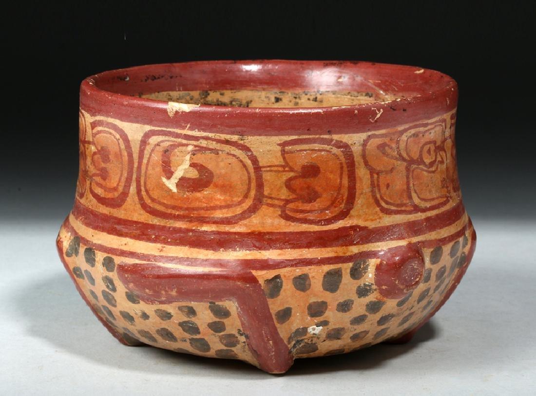 Near Choice Mayan Copador Pottery Turtle Bowl - 3