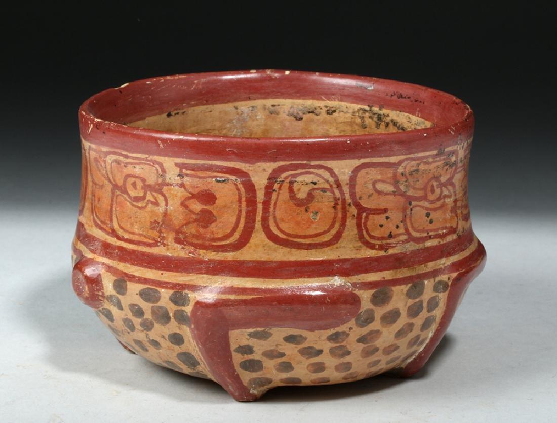 Near Choice Mayan Copador Pottery Turtle Bowl - 4