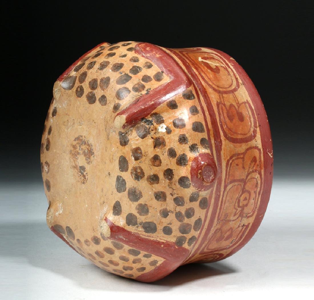 Near Choice Mayan Copador Pottery Turtle Bowl - 6