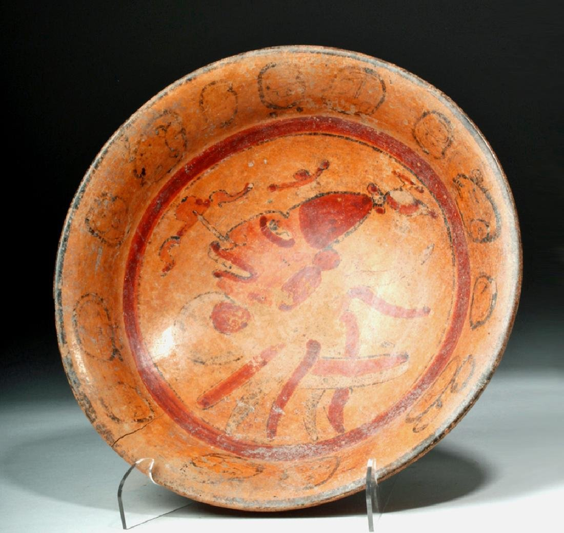 Mayan Pottery Tripod Bowl - Noble's Face