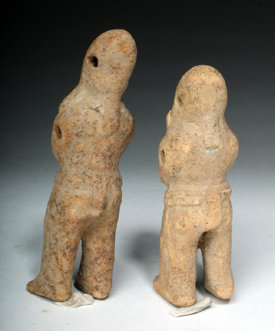 Two Mayan Jaina Island Molded Pottery Figures - 3