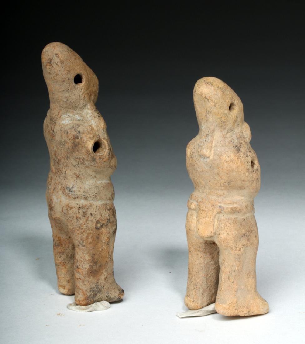 Two Mayan Jaina Island Molded Pottery Figures - 4