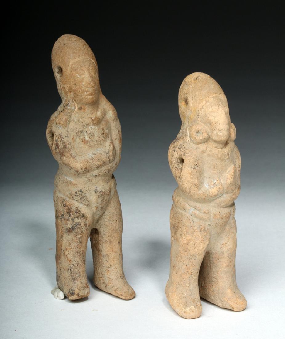 Two Mayan Jaina Island Molded Pottery Figures - 5