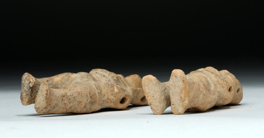 Two Mayan Jaina Island Molded Pottery Figures - 6