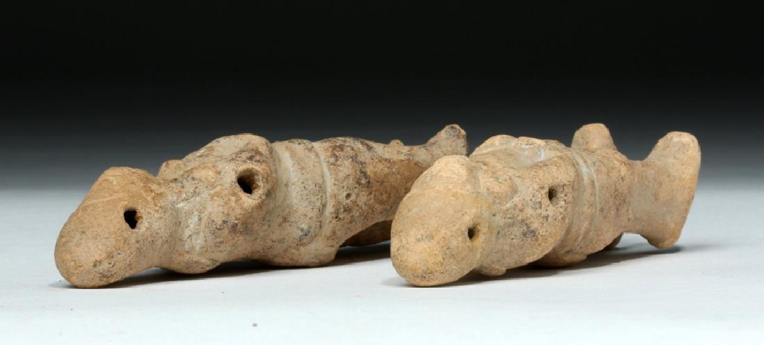 Two Mayan Jaina Island Molded Pottery Figures - 7
