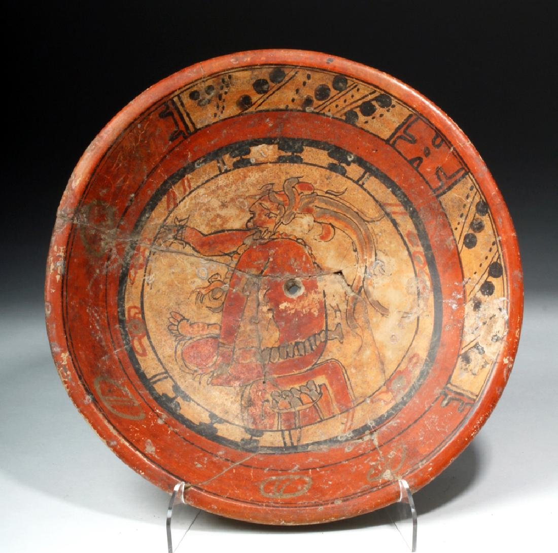 Mayan Polychrome Rattle-Legged Tripod - Seated Lord - 6