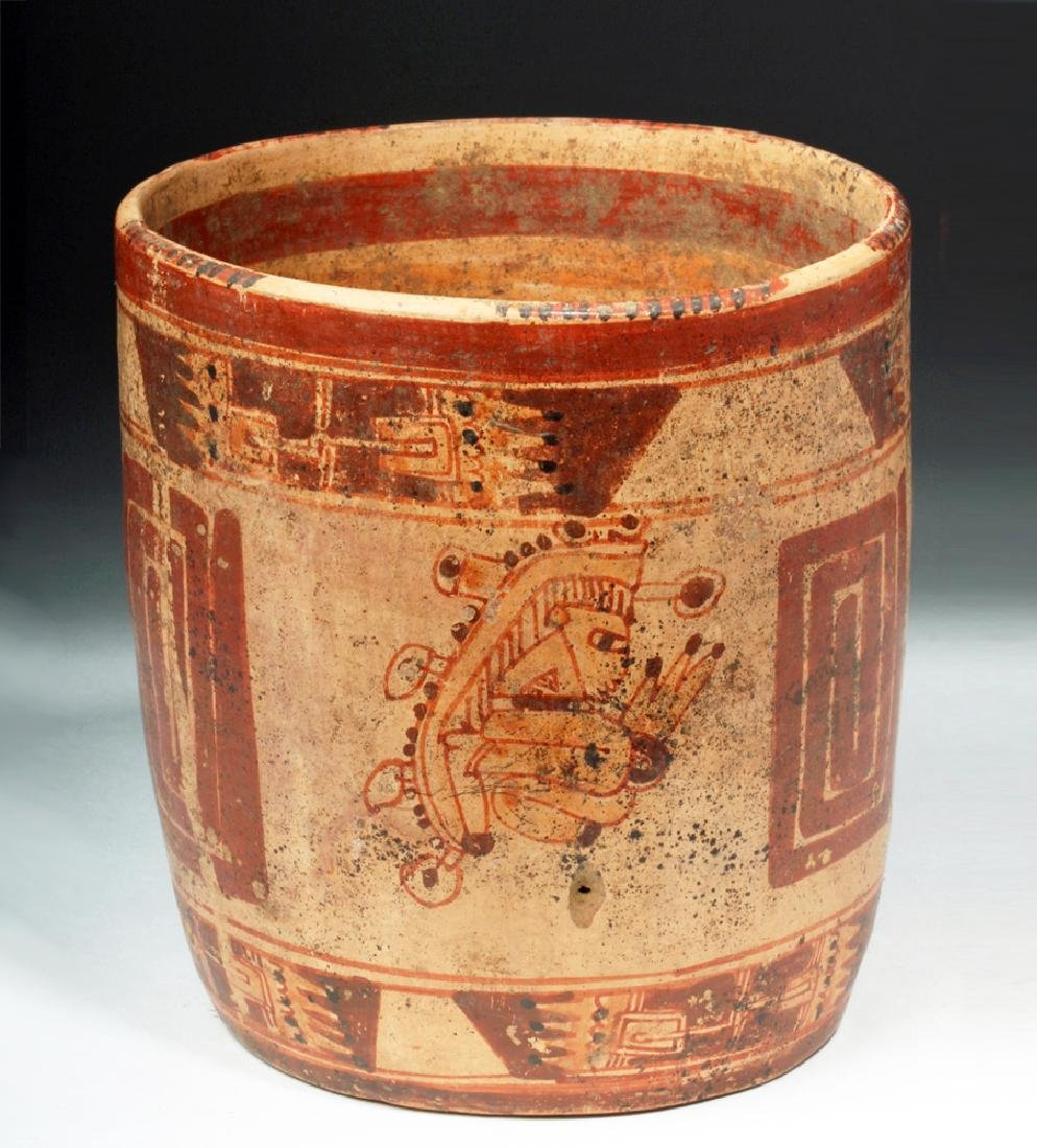 Mayan Ulua Valley Polychrome Cocoa Cup