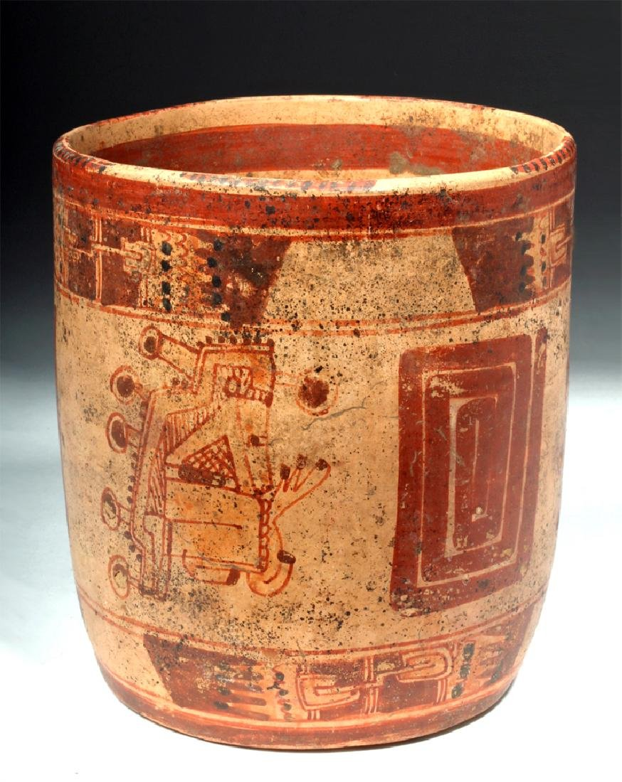 Mayan Ulua Valley Polychrome Cocoa Cup - 3