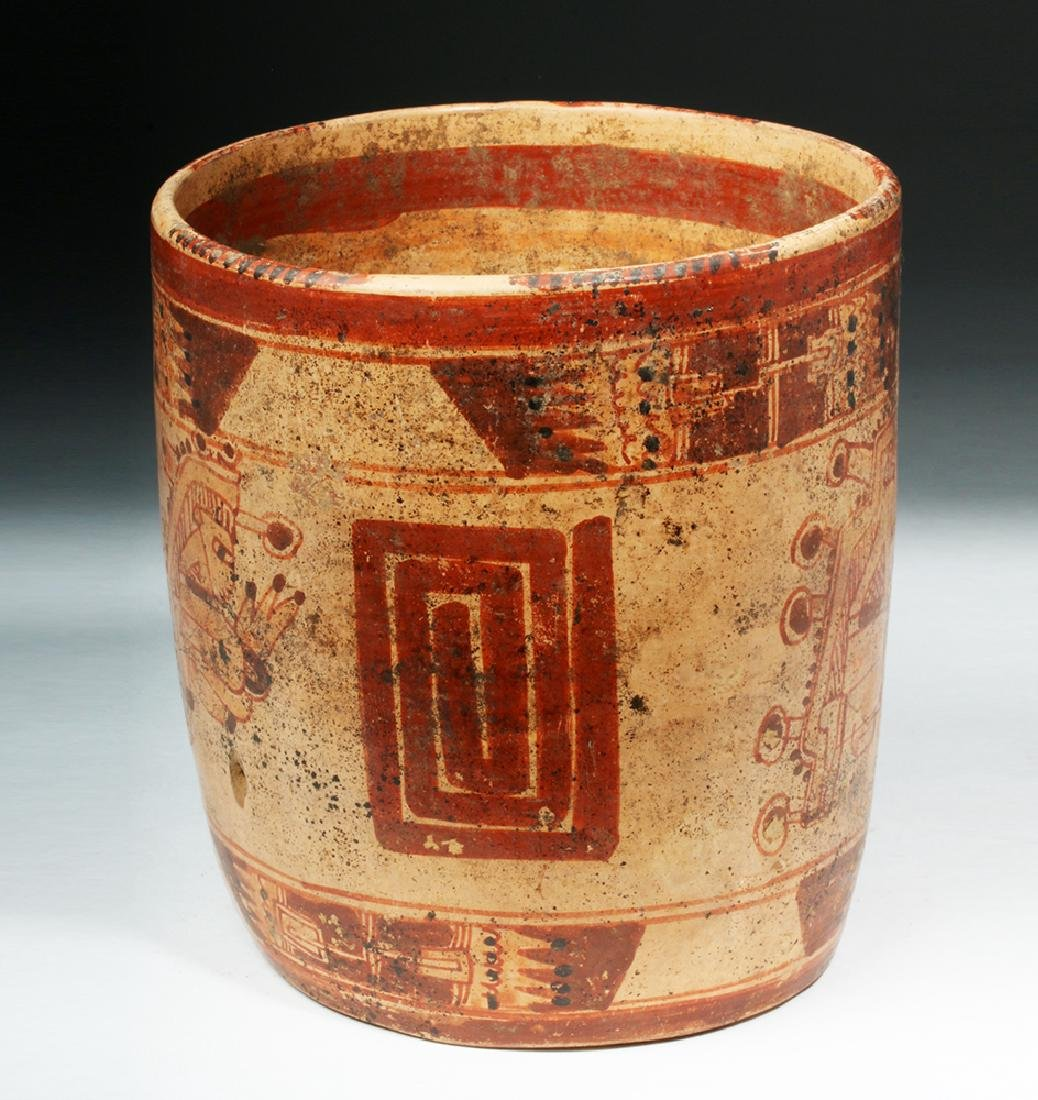 Mayan Ulua Valley Polychrome Cocoa Cup - 4