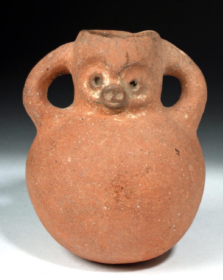 Mayan Pottery Jar in Monkey Form