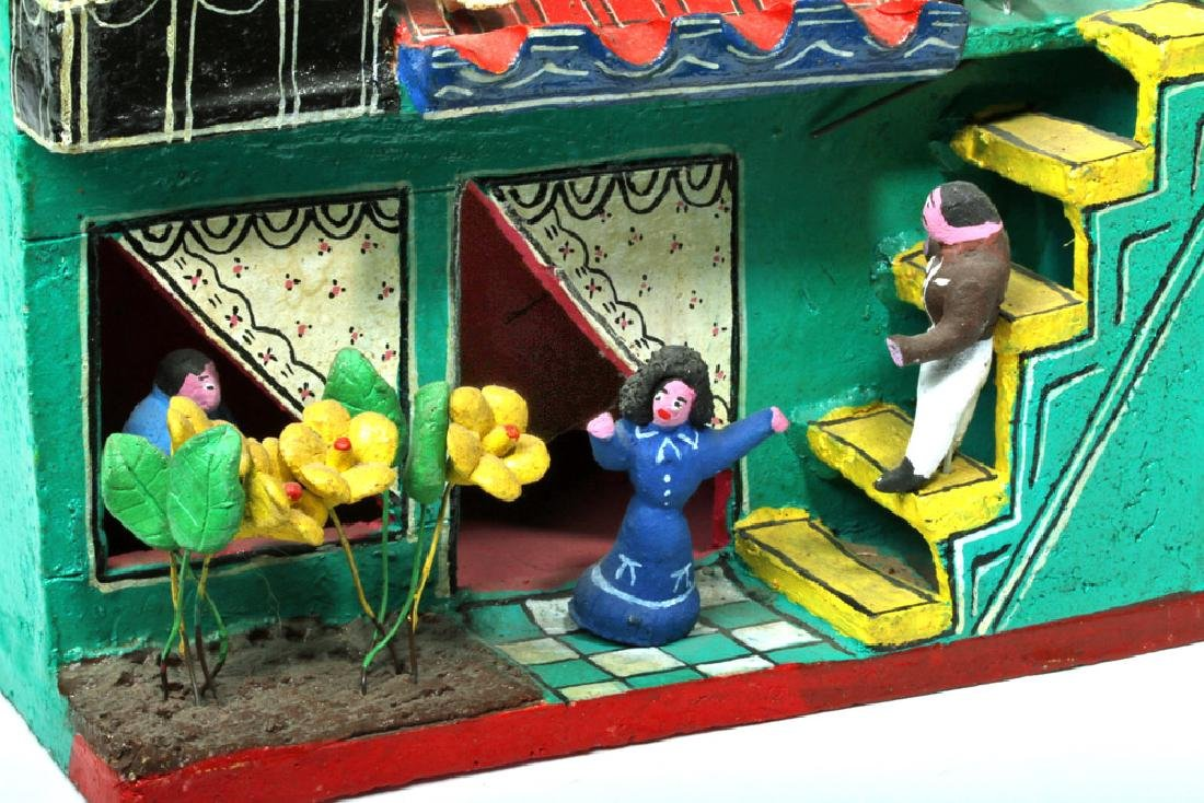 Mid 20th C. Amusing Mexican Painted Terracotta Casita - 6
