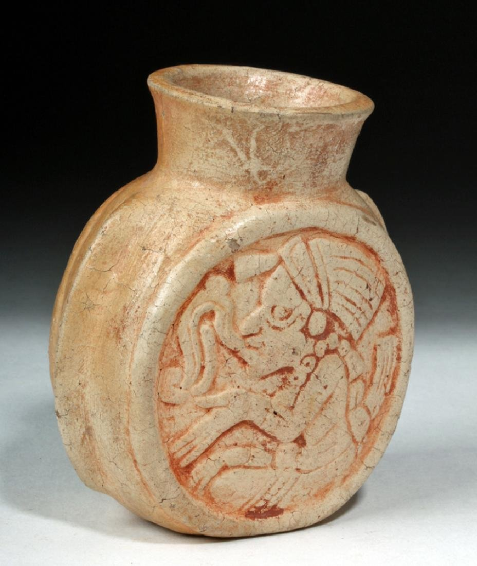 Fine Mayan Pottery Poison Jar - Scribes
