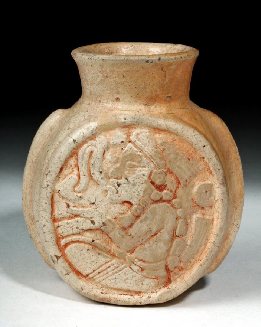 Fine Mayan Pottery Poison Jar - Scribes - 2