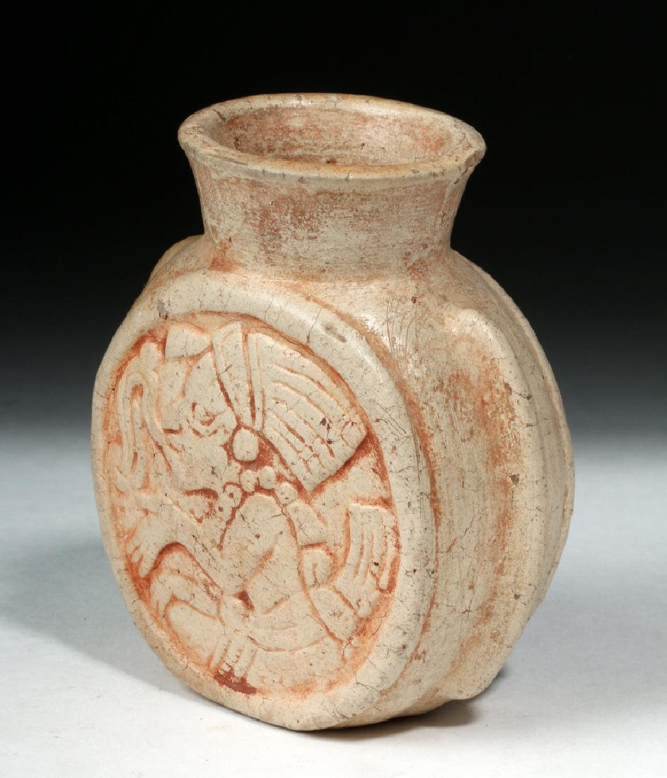 Fine Mayan Pottery Poison Jar - Scribes - 4