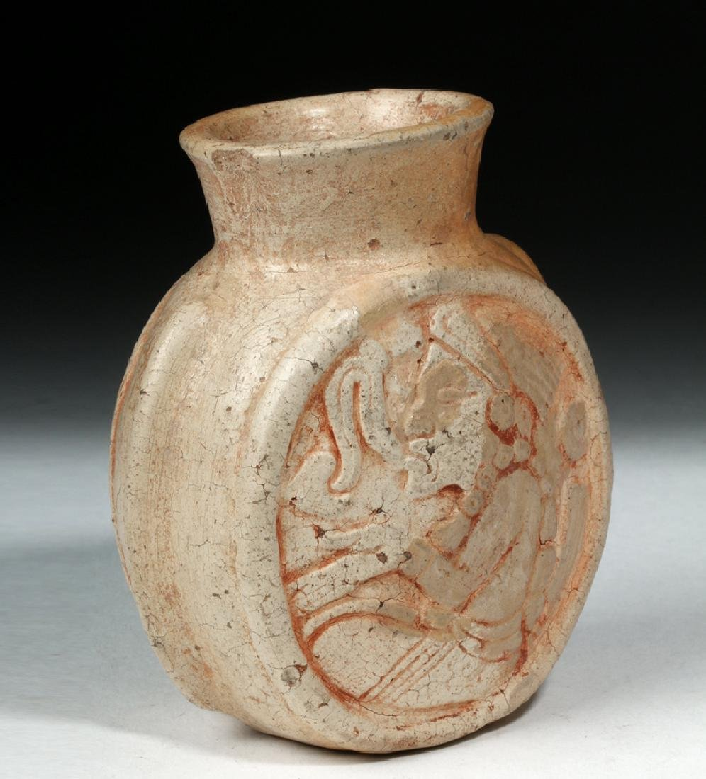 Fine Mayan Pottery Poison Jar - Scribes - 5